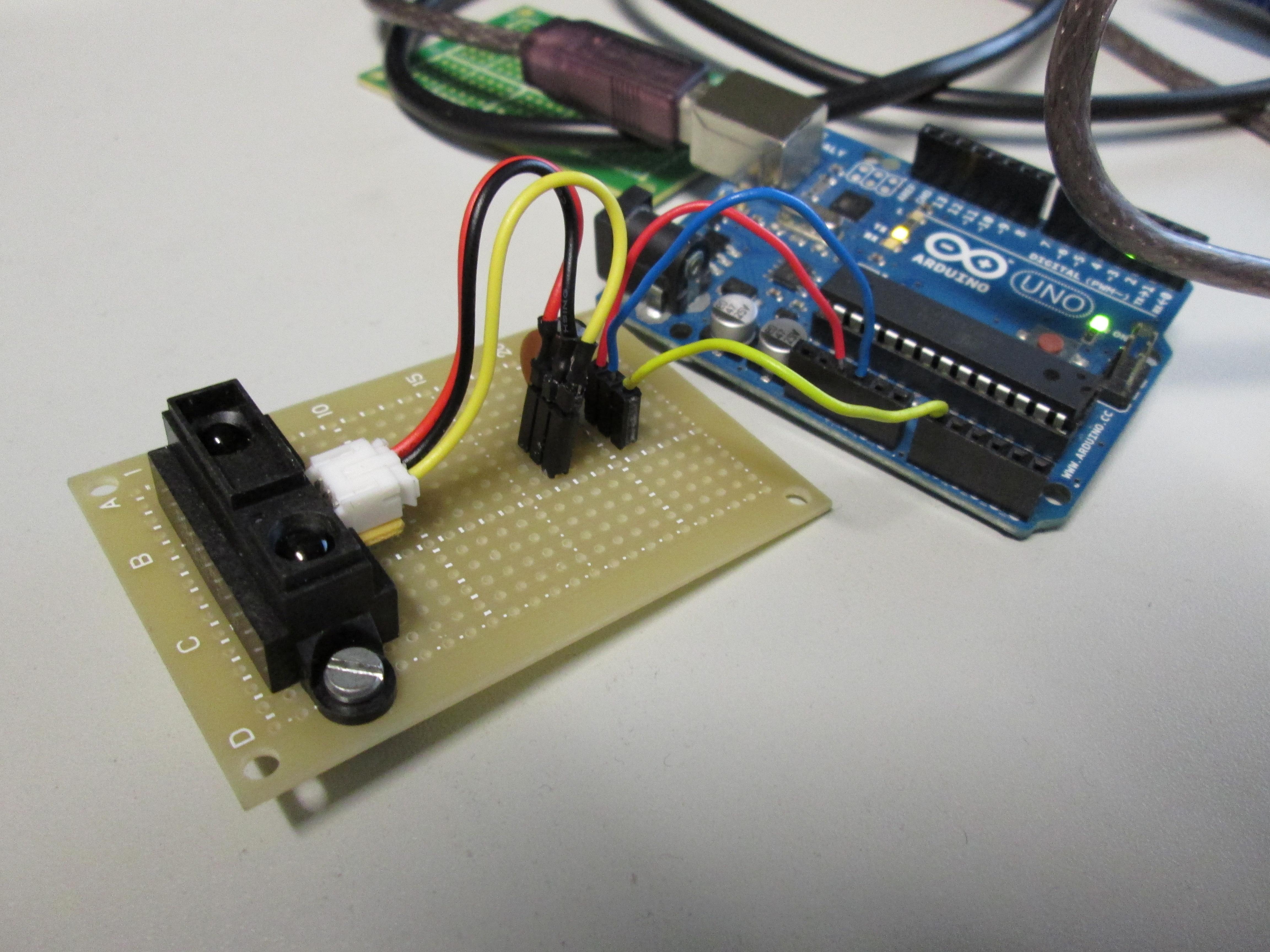 Denoising Sharp Infrared Sensor Chikashi Miyama Ir Proximity Distance Arduino And Two Capacitor For Data Stabilization